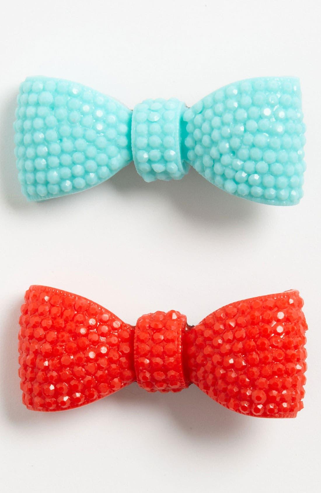 Main Image - Cara 'Bow' Hair Clip (2-Pack) (Girls)