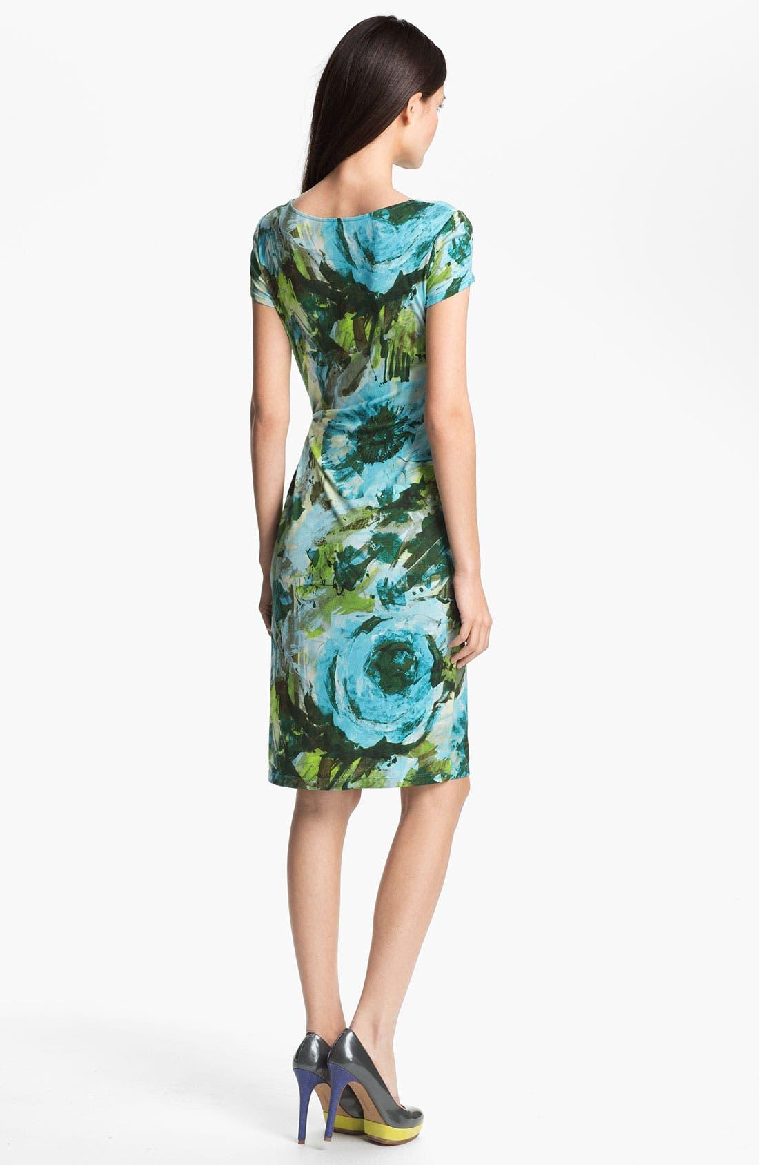 Alternate Image 2  - Lafayette 148 New York Garden Floral Jersey Dress