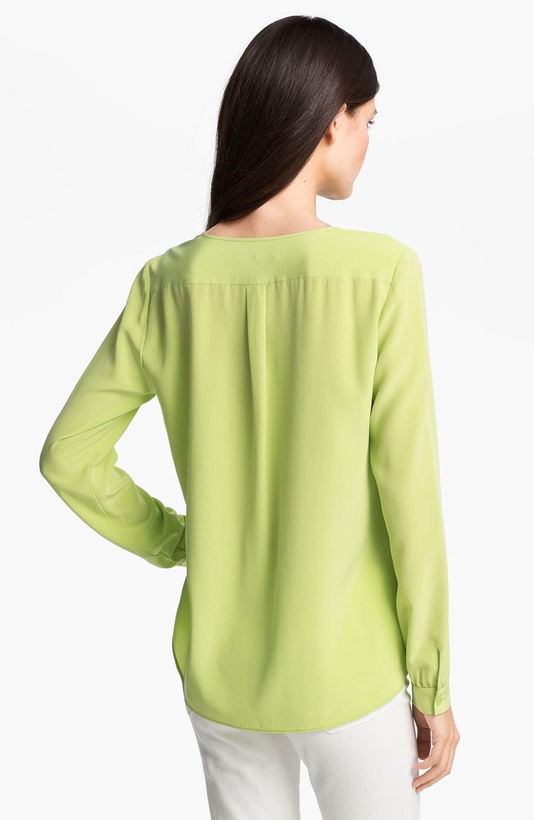 Alternate Image 2  - Lafayette 148 New York 'Samantha' Sandwashed Silk Blouse