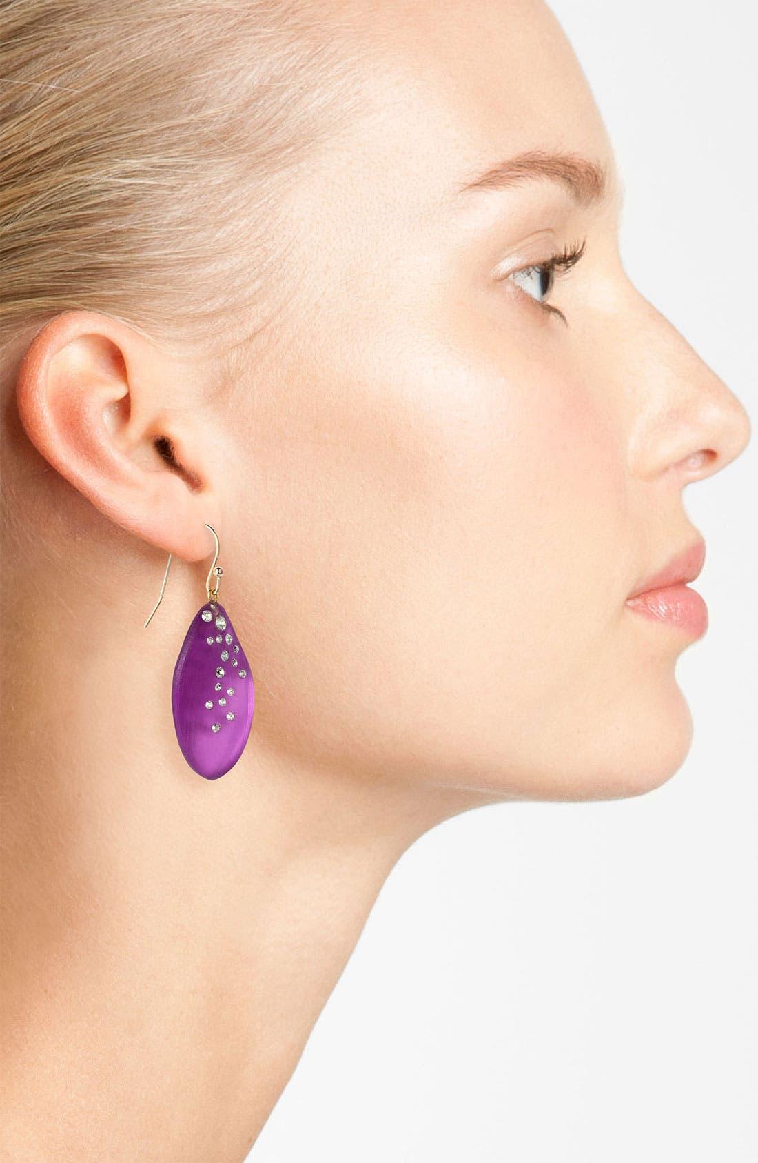Alternate Image 2  - Alexis Bittar 'Lucite® - Dust' Long Leaf Statement Earrings
