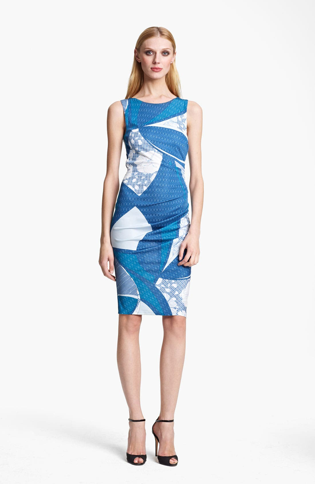 Main Image - Emilio Pucci Elisse Print Ruched Jersey Dress