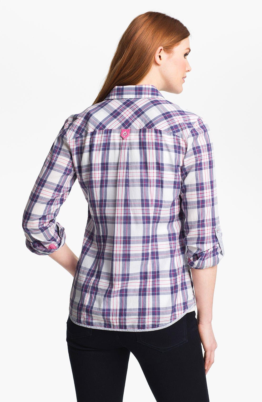 Alternate Image 2  - Shirt 469 Plaid Poplin Shirt