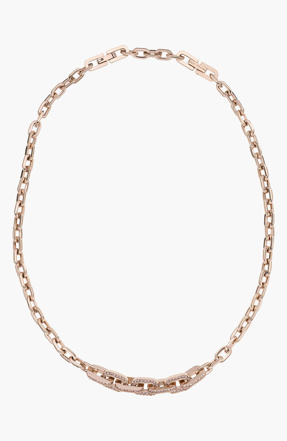 Alternate Image 1 Selected - Michael Kors Pavé Link Necklace