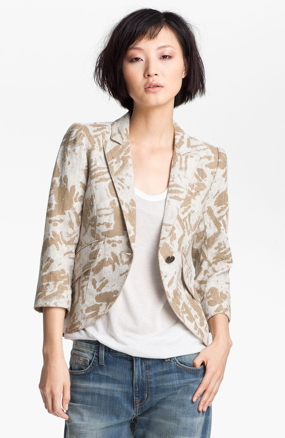 Alternate Image 2  - Smythe Graffiti Print Puff Sleeve Blazer