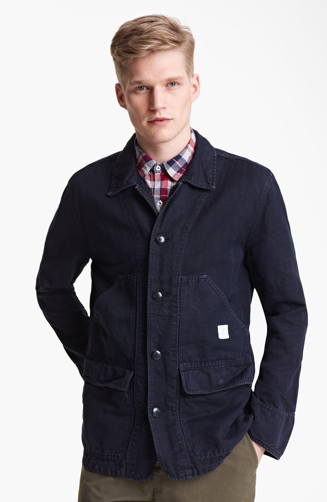 Alternate Image 1 Selected - Save Khaki Cotton Jacket