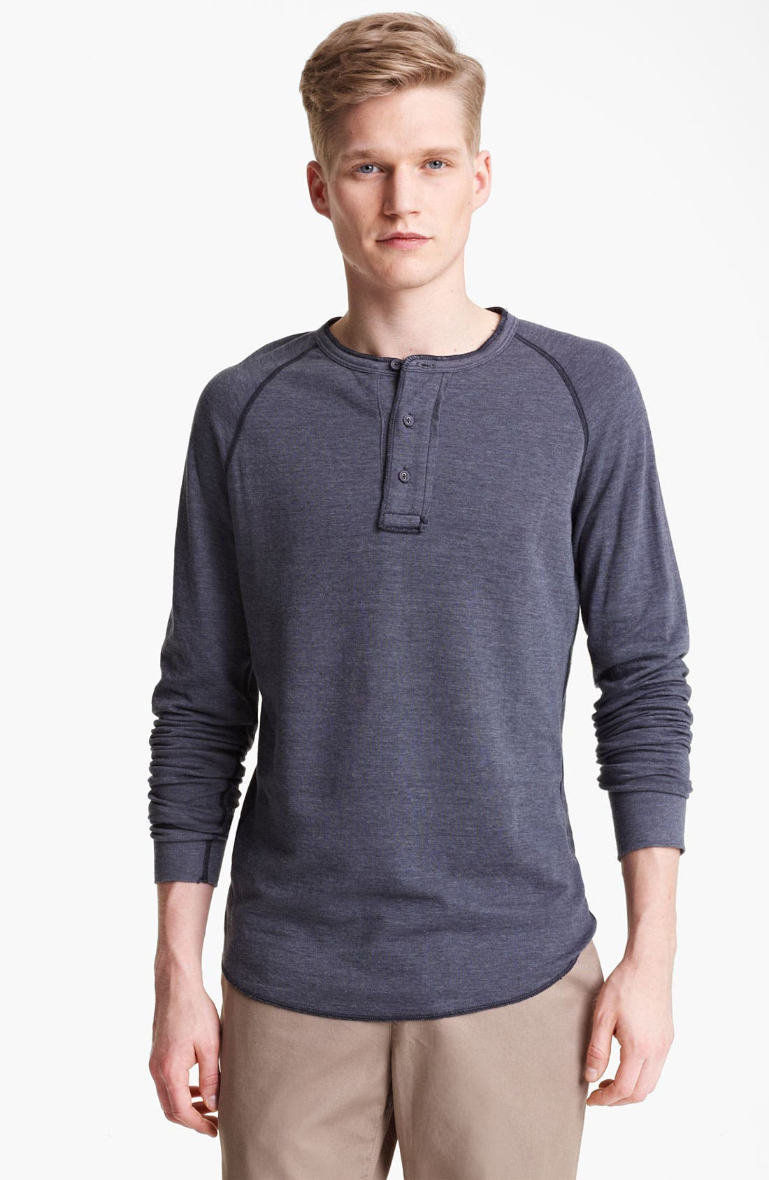 Main Image - Save Khaki Knit Henley