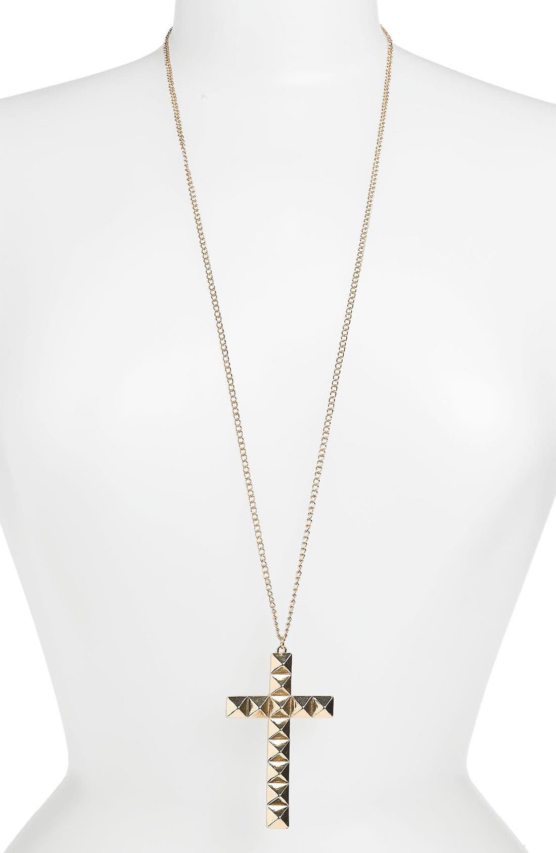 Alternate Image 1 Selected - BP. Stud Cross Necklace