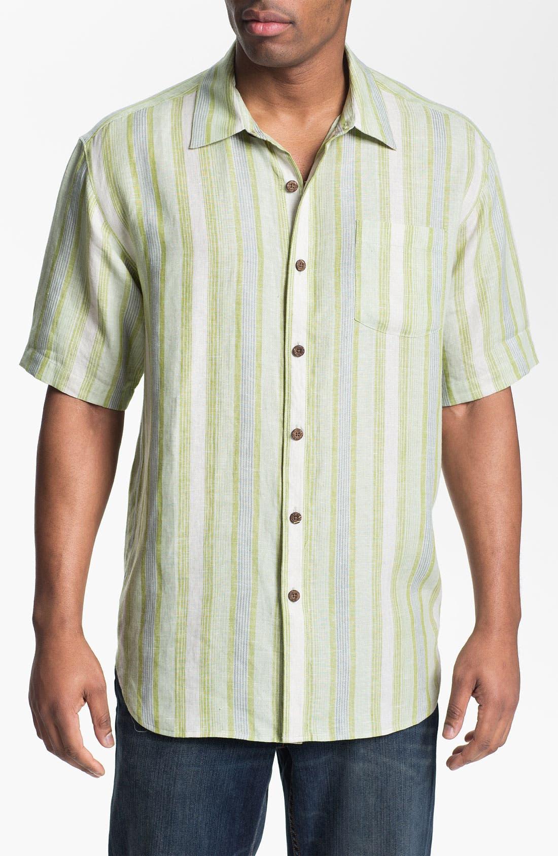 Alternate Image 1 Selected - Tommy Bahama 'Aquarina' Linen Sport Shirt