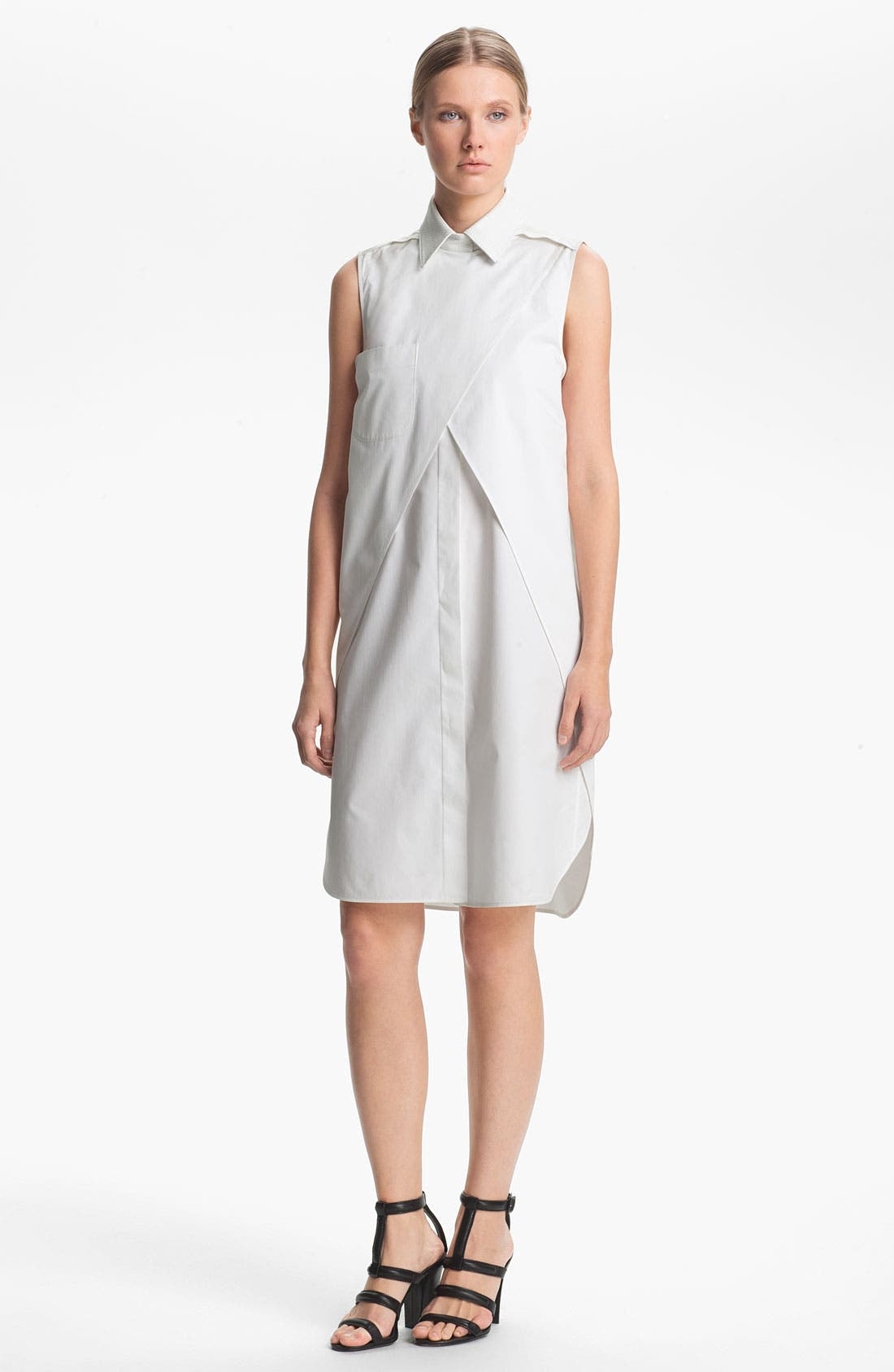 Alternate Image 1 Selected - Alexander Wang Double Layered Shirtdress