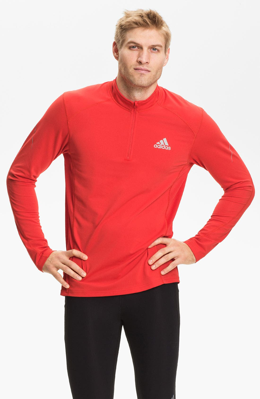 Alternate Image 1 Selected - adidas 'Sequencials' Half-Zip Top