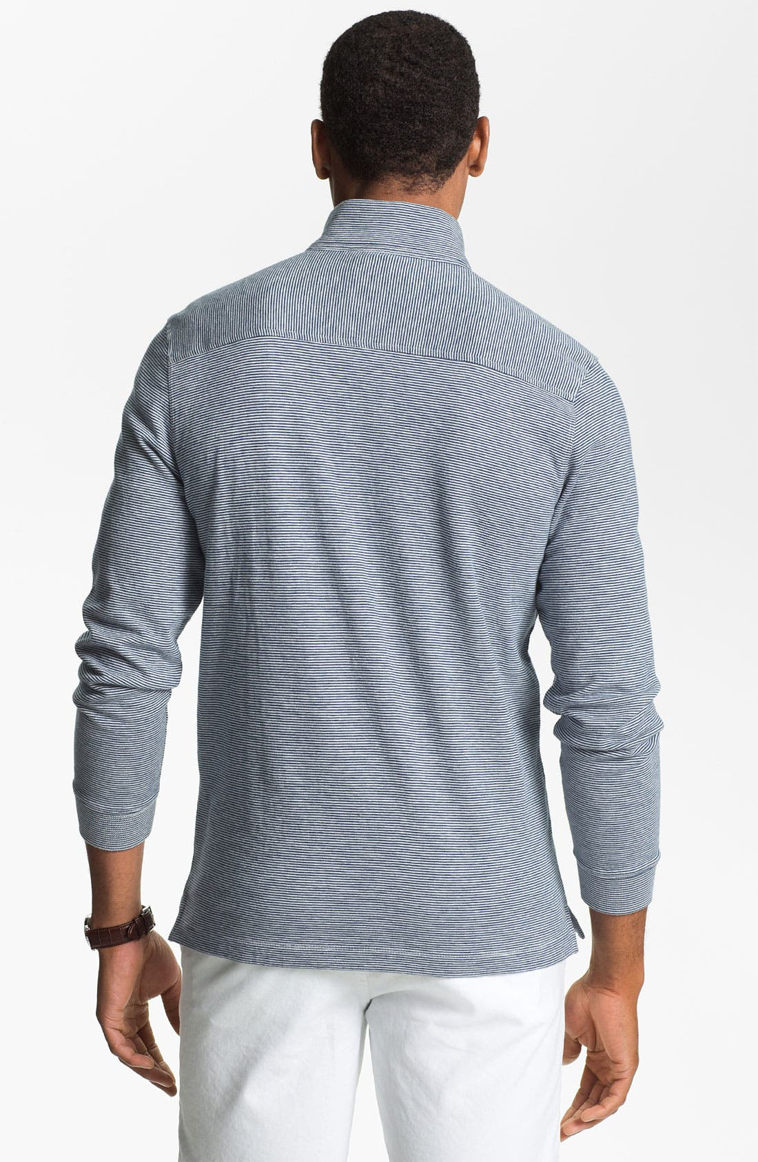 Alternate Image 2  - Hickey Freeman Quarter Zip Pullover
