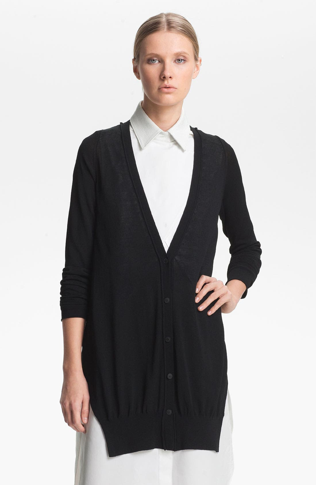 Alternate Image 2  - Alexander Wang Jersey Cardigan