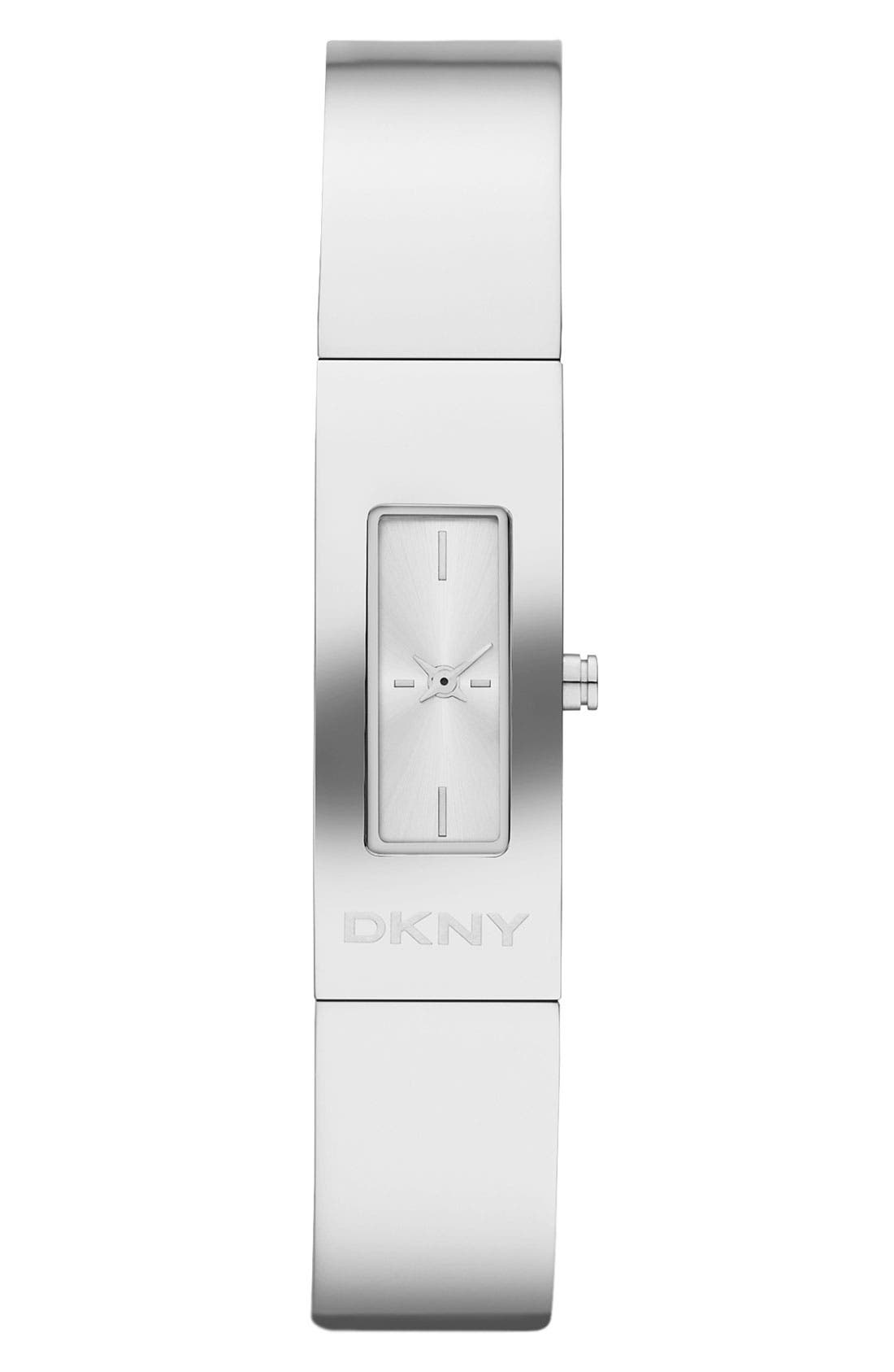 Alternate Image 1 Selected - DKNY 'Beekman' Logo Bangle Watch, 13mm x 33mm
