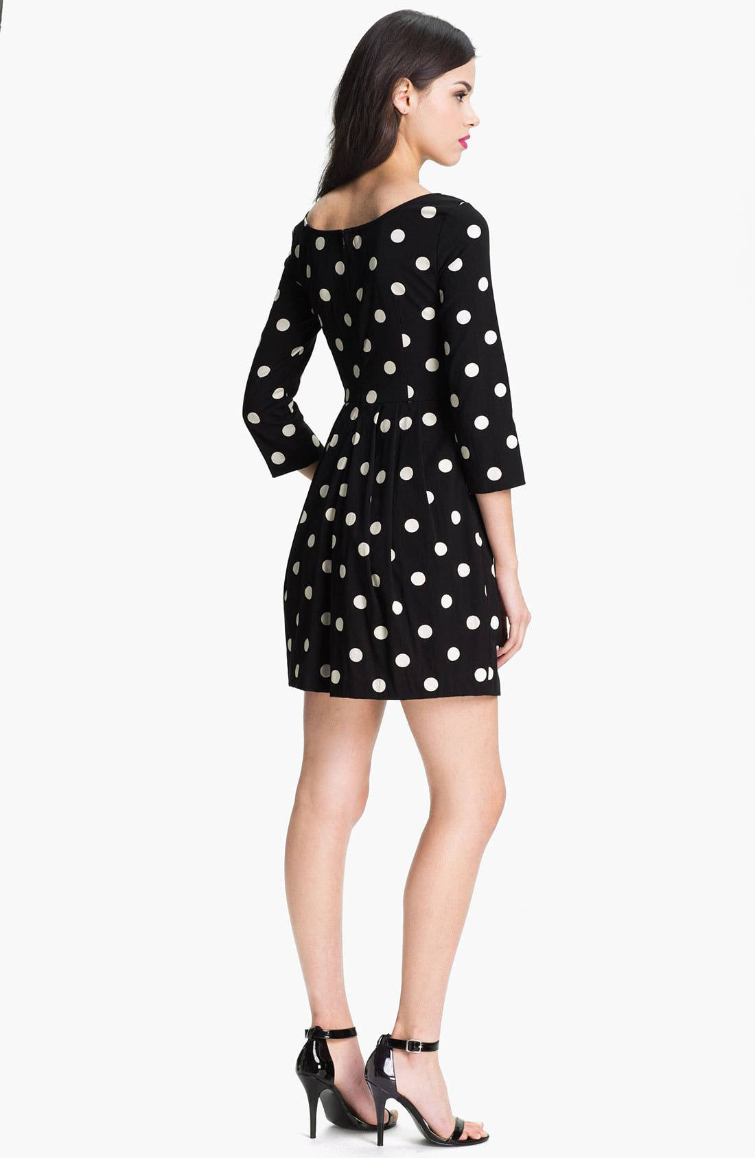 Alternate Image 2  - Betsey Johnson Polka Dot Ponte Knit Dress