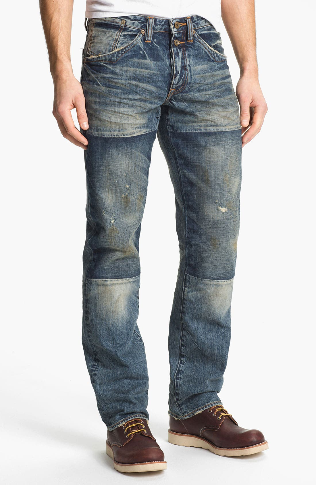 Alternate Image 1 Selected - PRPS 'Myron Barracuda' Straight Leg Jeans (Light Wash)