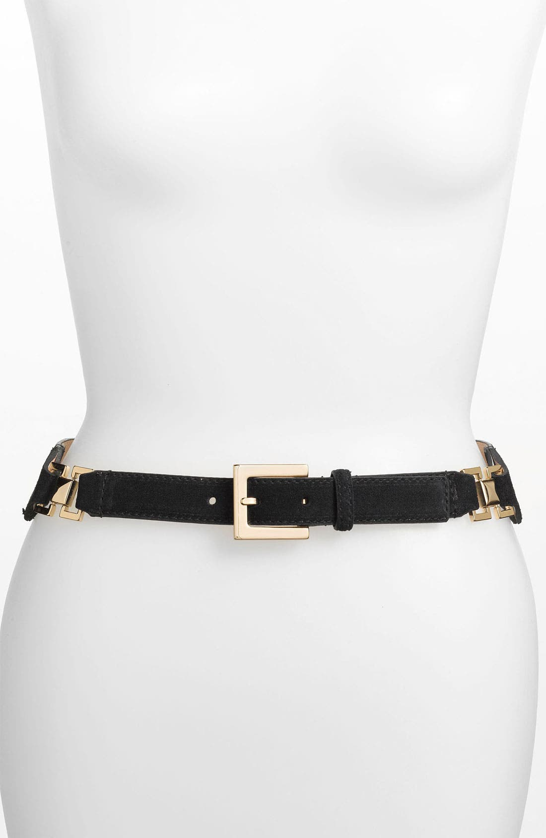 Main Image - Vince Camuto Taper Front Suede Panel Belt