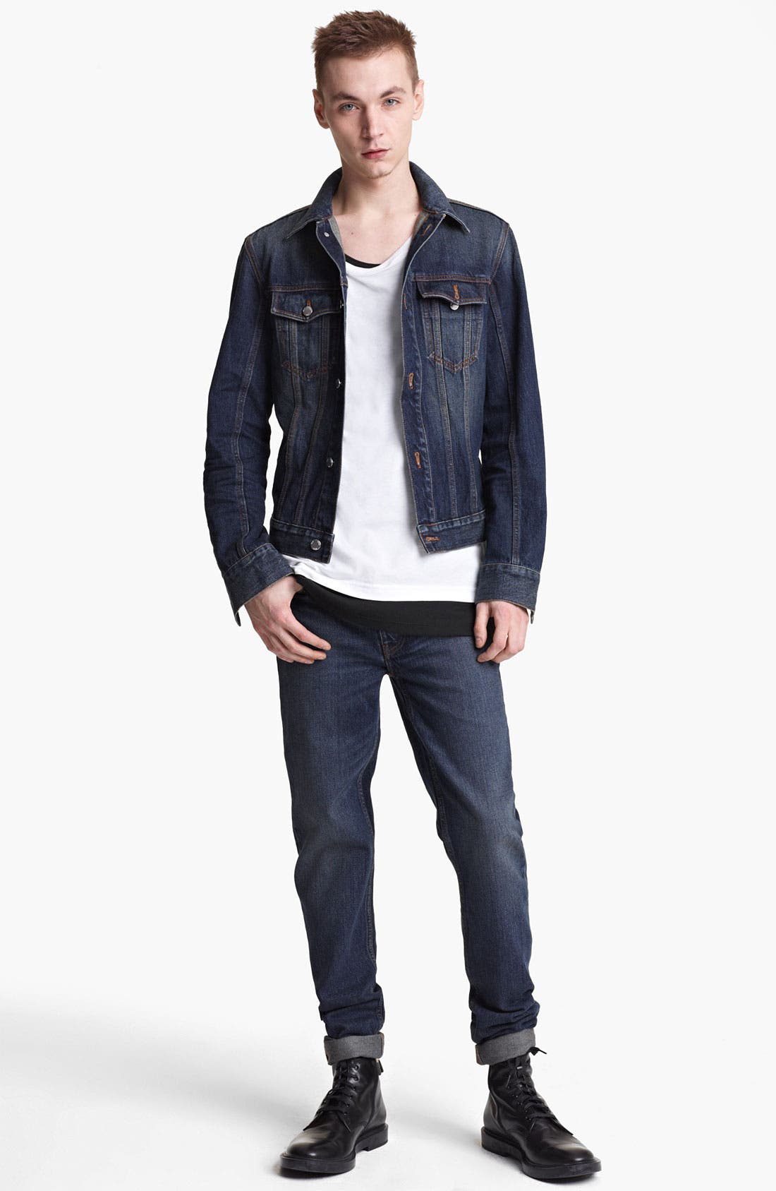 Alternate Image 4  - BLK DNM 'Jeans Jacket 5' Stonewashed Denim Jacket