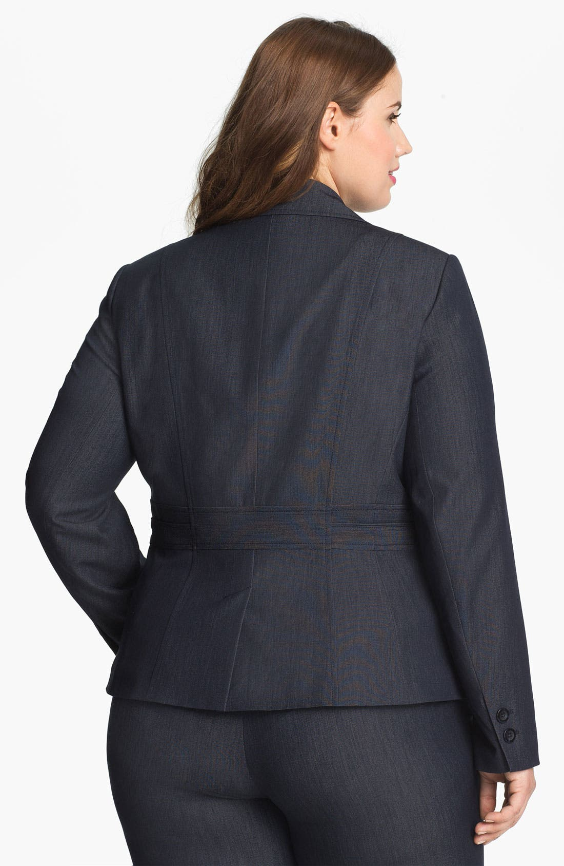 Alternate Image 2  - Sejour Seamed Suit Jacket (Plus Size)