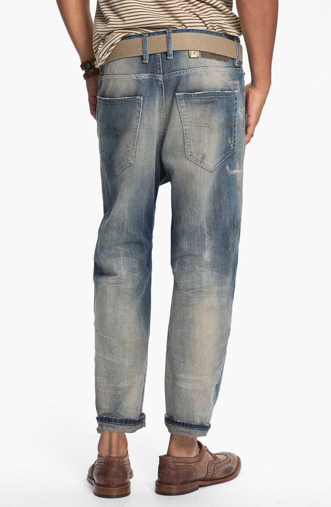 Alternate Image 1 Selected - DIESEL® 'Narrot' Cropped Slouchy Tapered Leg Jeans (0811A)