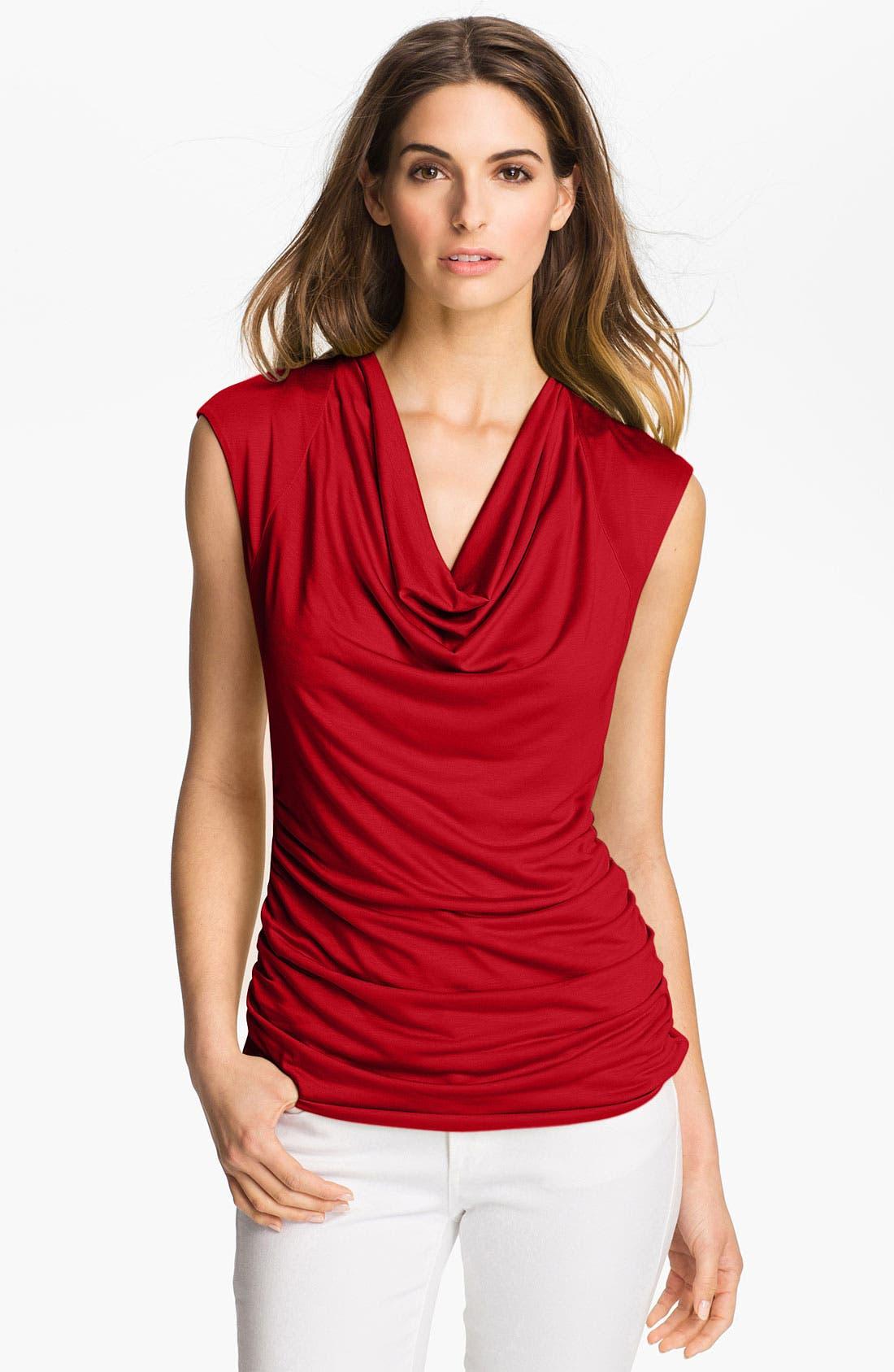 Main Image - Classiques Entier® Drape Neck Jersey Top