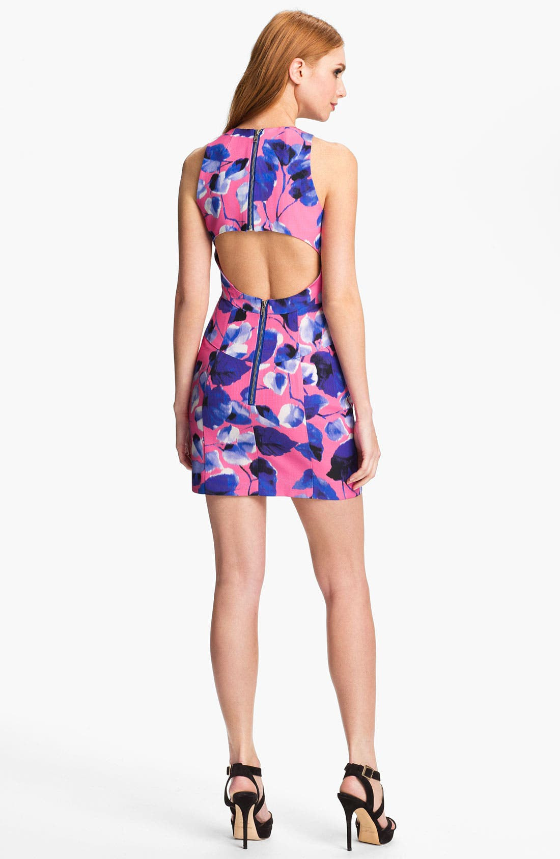 Alternate Image 2  - Milly 'Ivy' Cotton Blend Sheath Dress
