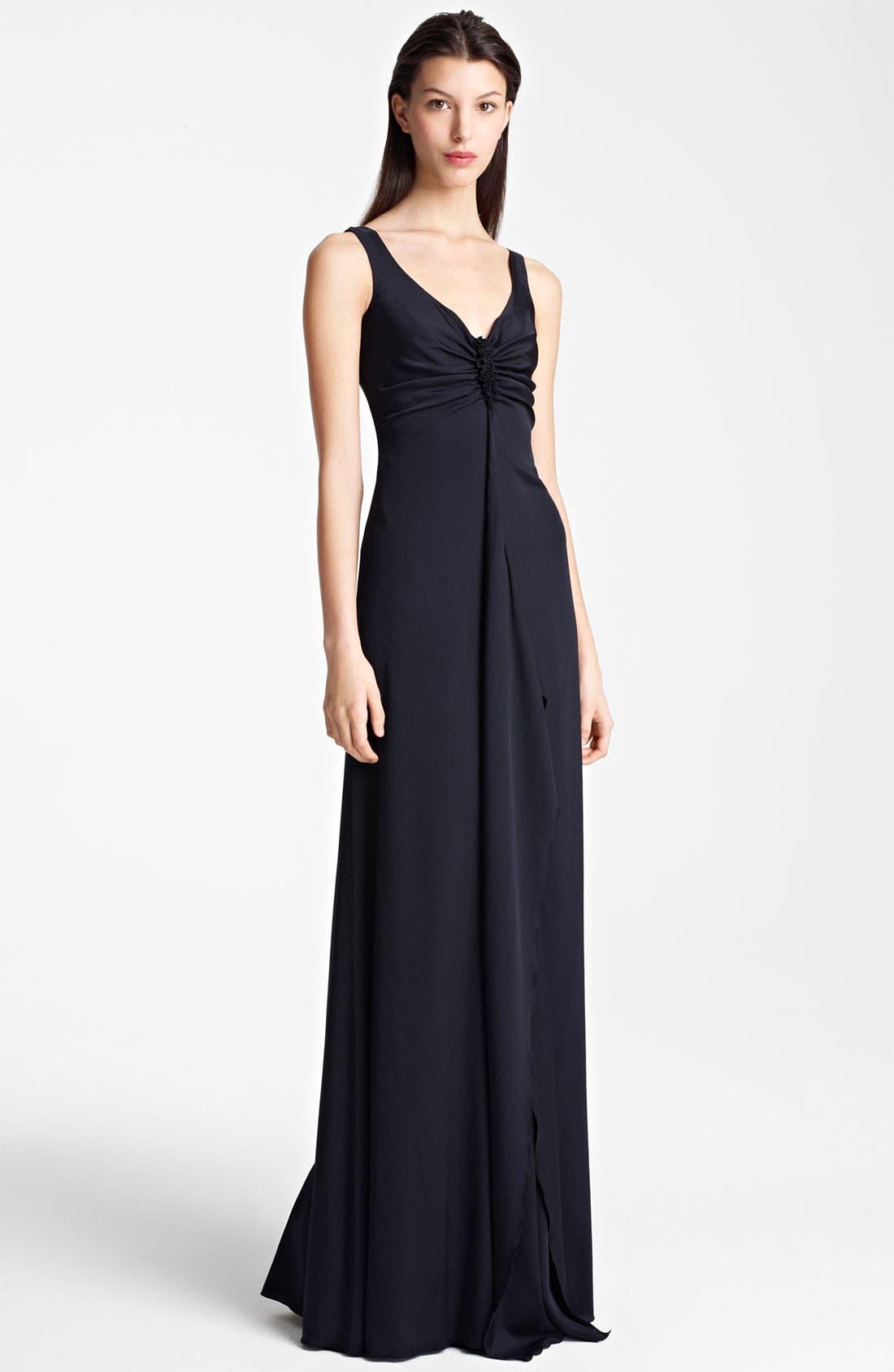 Main Image - Armani Collezioni Ruffle Front Gown
