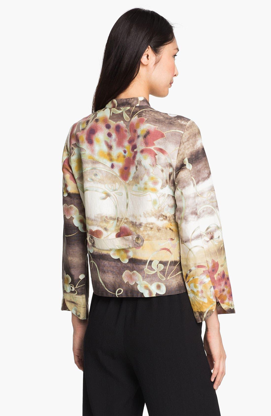 Alternate Image 2  - Citron Silk & Linen Jacket