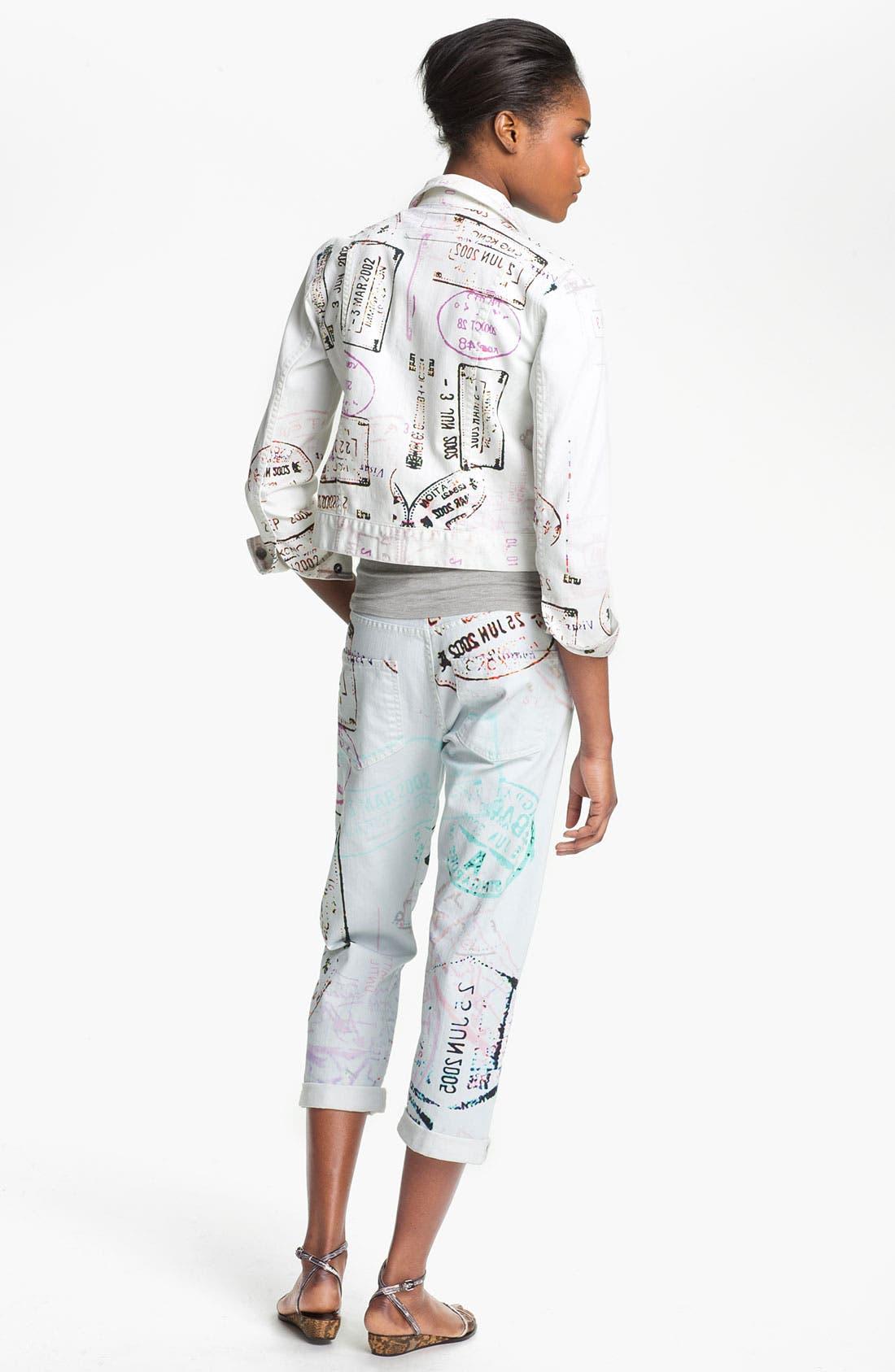 Alternate Image 4  - Mary Katrantzou Current/Elliott 'The Boyfriend' Print Jeans