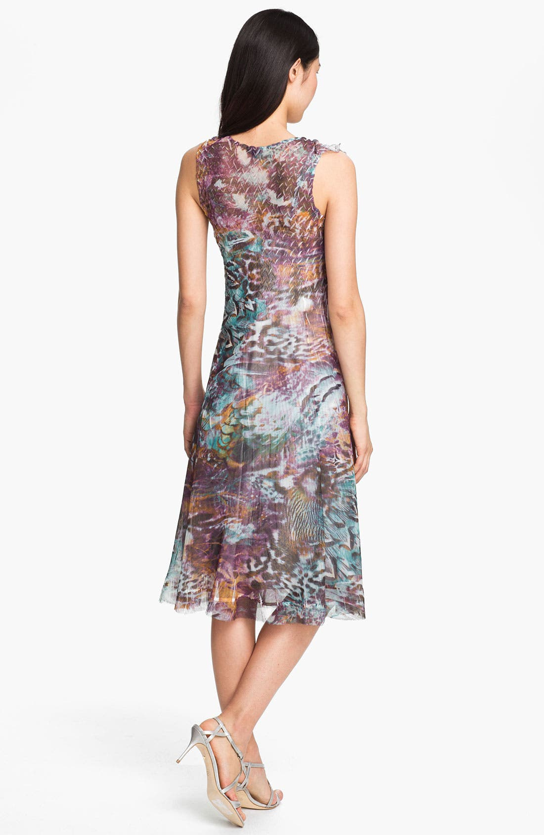 Alternate Image 2  - Komarov Print V-Neck Chiffon Dress
