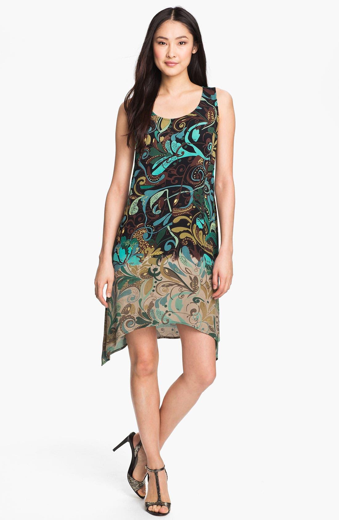 Alternate Image 1 Selected - Citron Ombré Print Crepe Dress