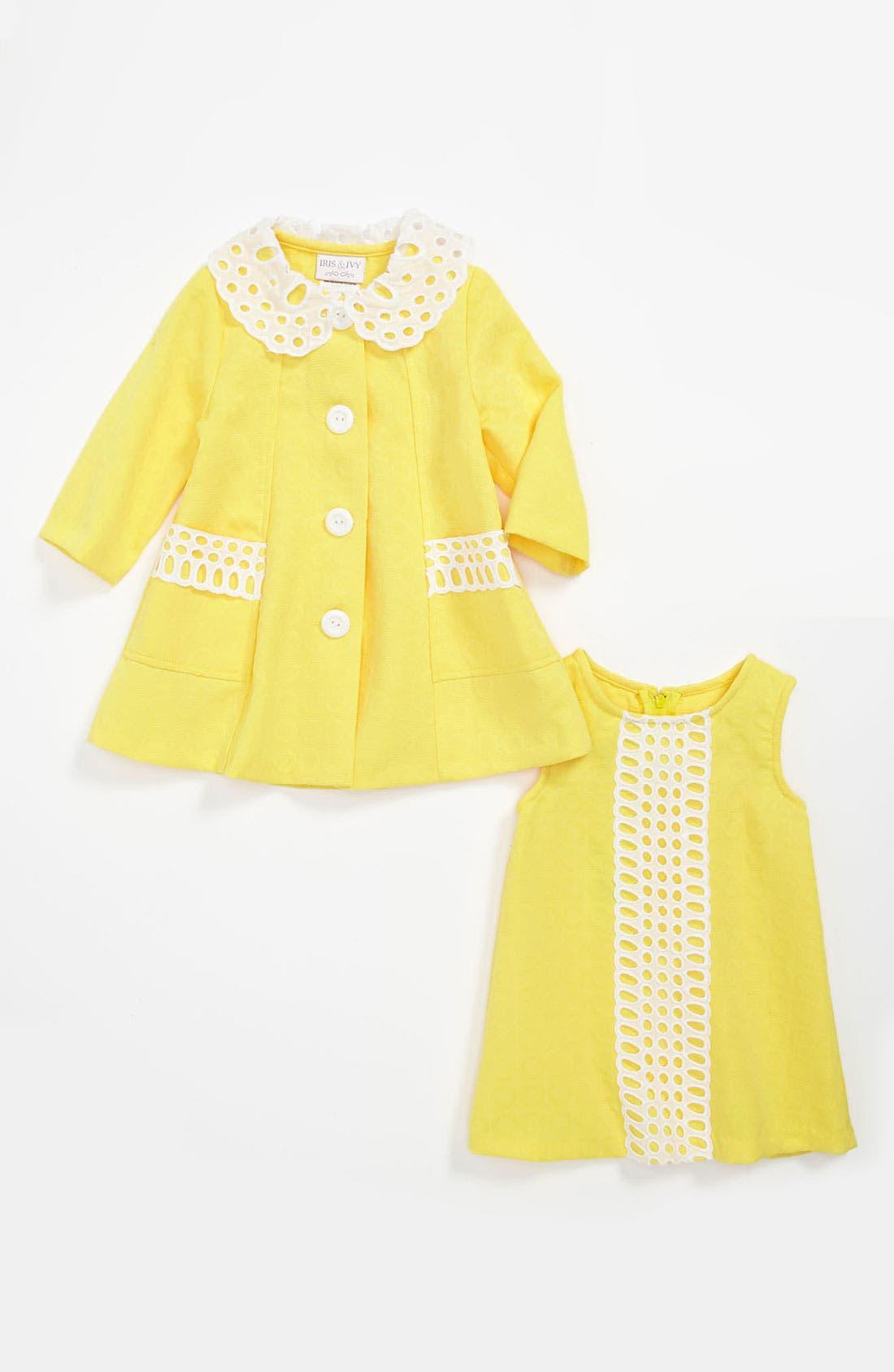 Alternate Image 1 Selected - Iris & Ivy Shift Dress & Jacket (Toddler)