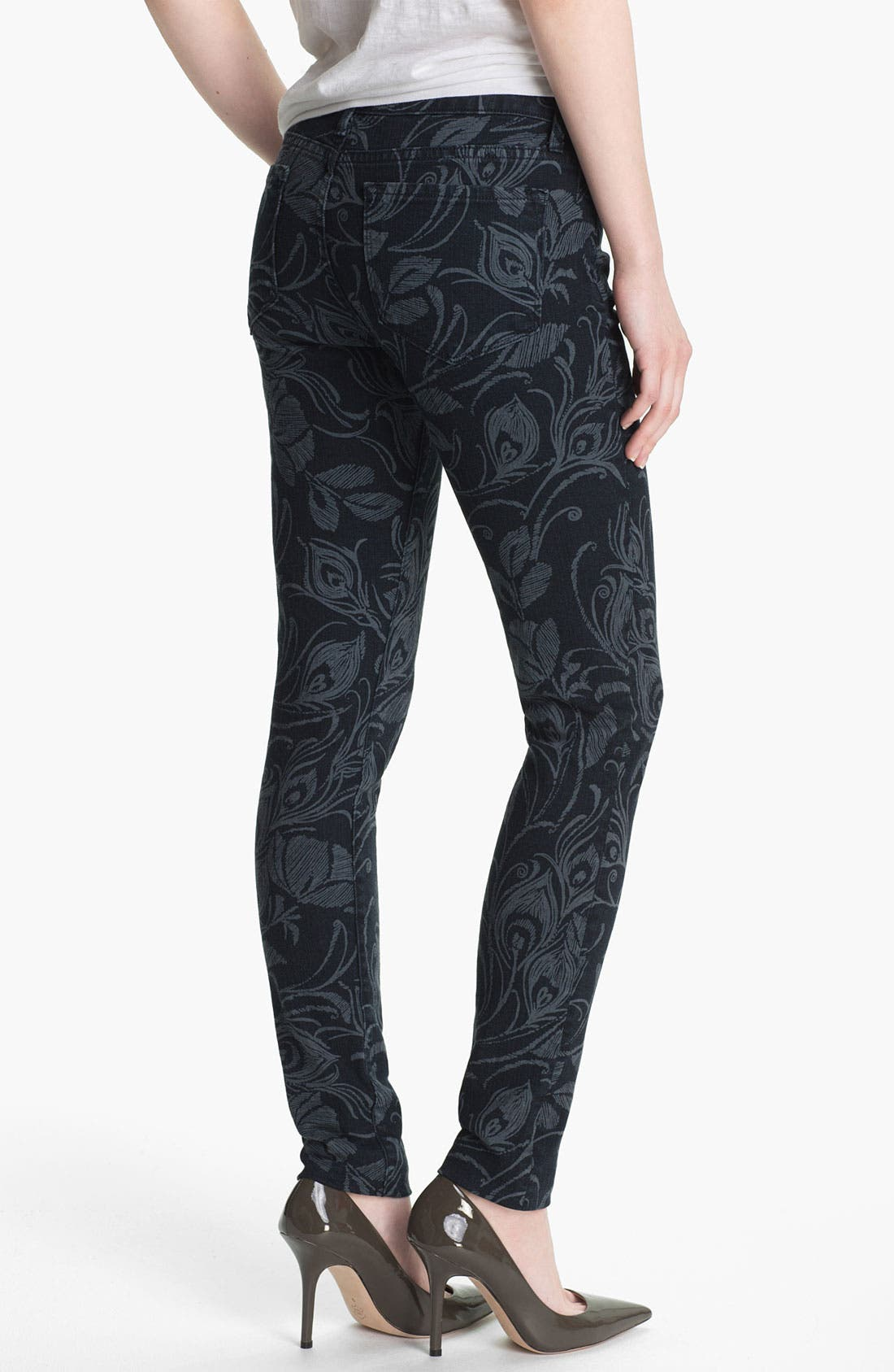 Alternate Image 2  - Blue Essence Shadow Print Skinny Jeans (Indigo) (Nordstrom Exclusive)