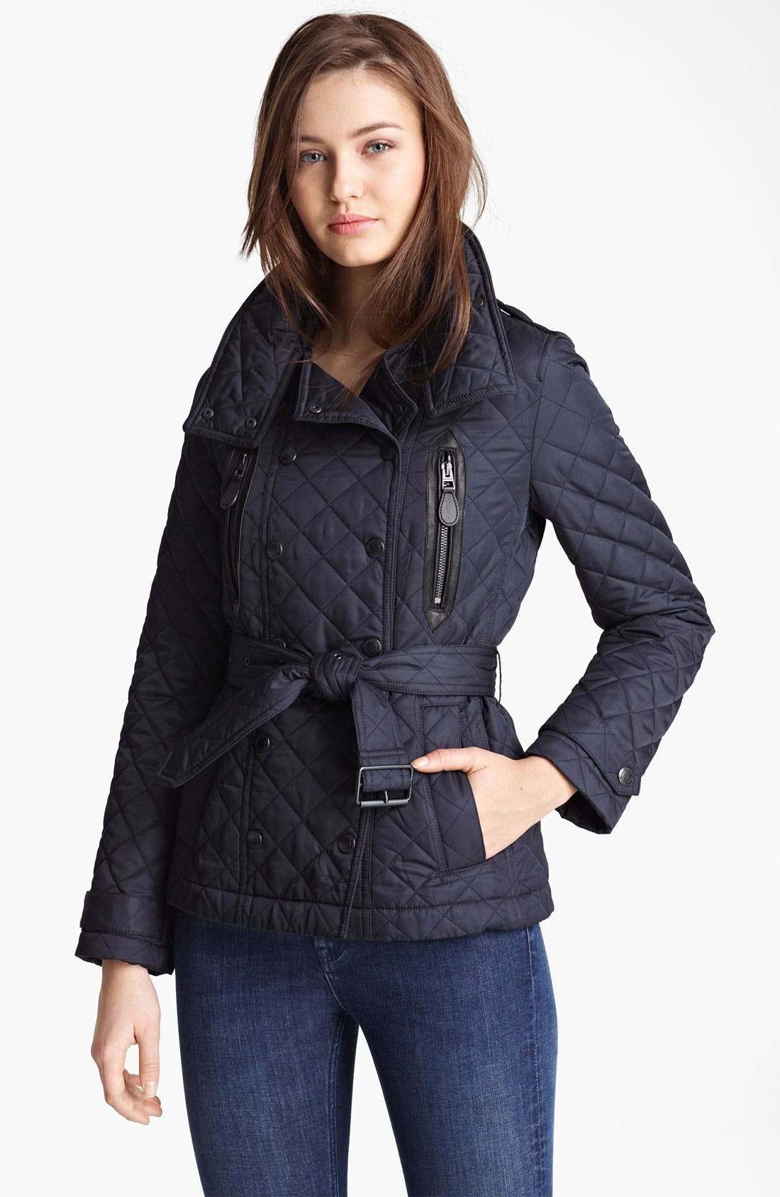 Main Image - Burberry Brit 'Wiltford' Quilted Coat