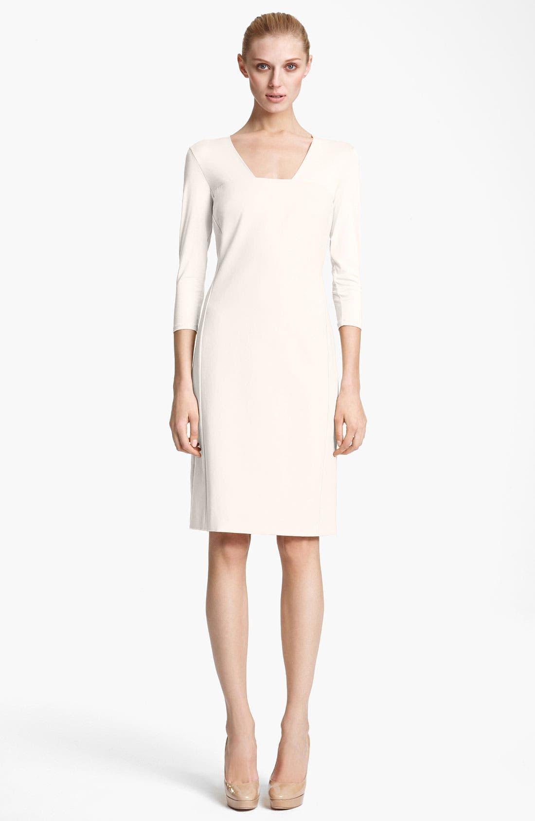 Main Image - Max Mara 'Segnale' Square Neck Jersey Dress