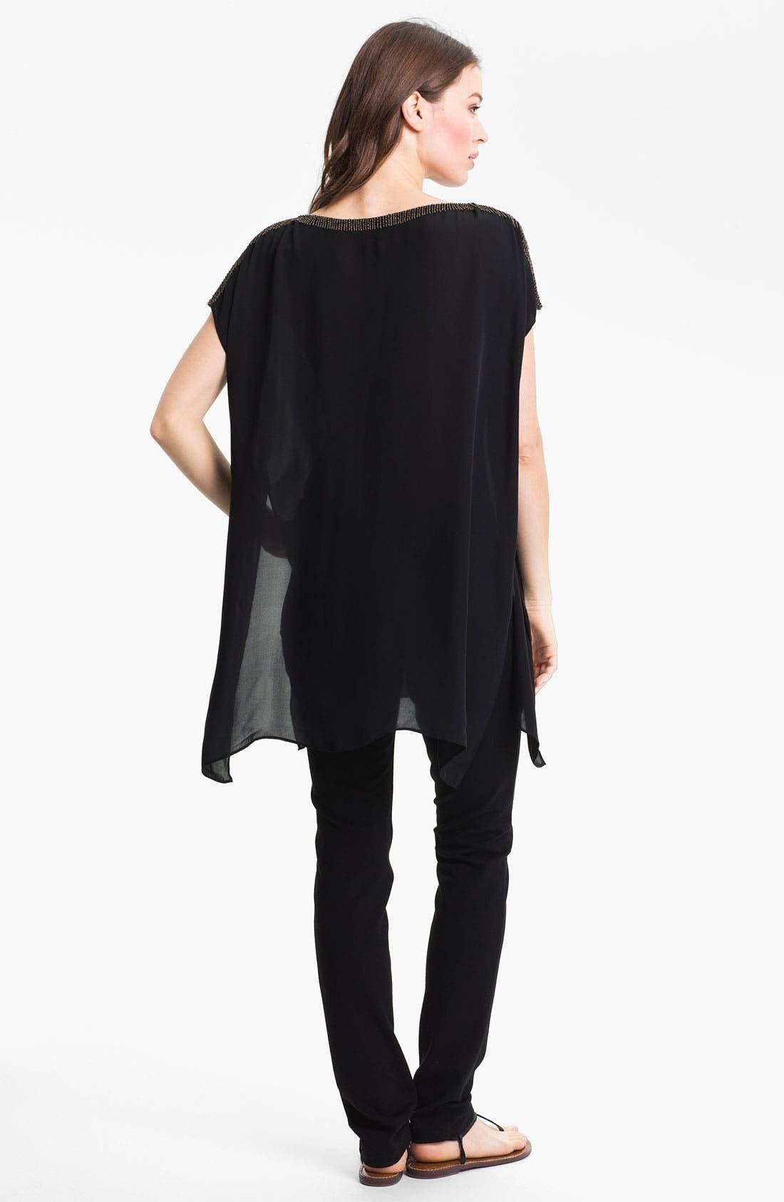 Alternate Image 5  - Eileen Fisher Beaded Silk Georgette Tunic
