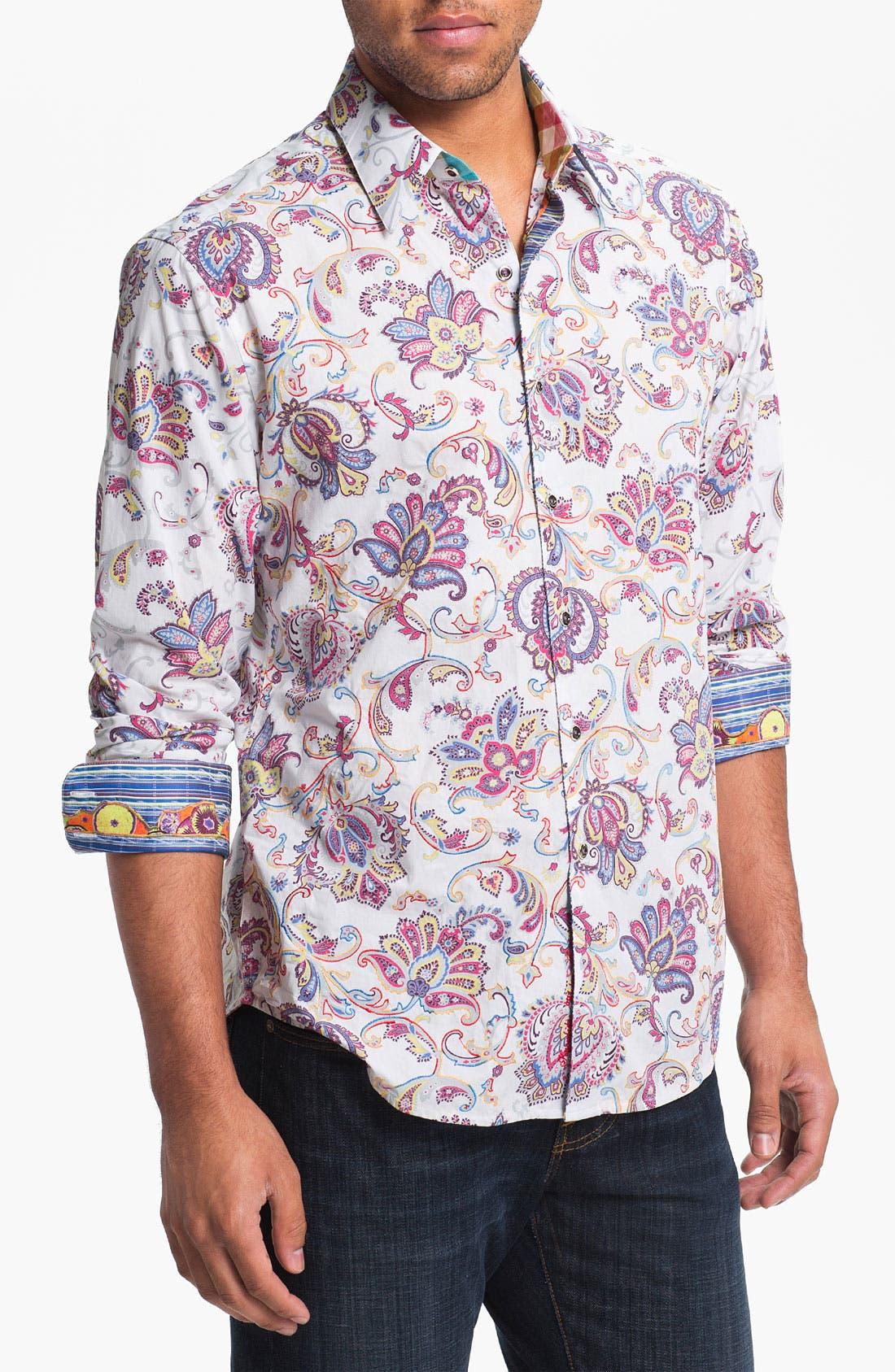 Alternate Image 1 Selected - Robert Graham 'Chitwood' Regular Fit Sport Shirt