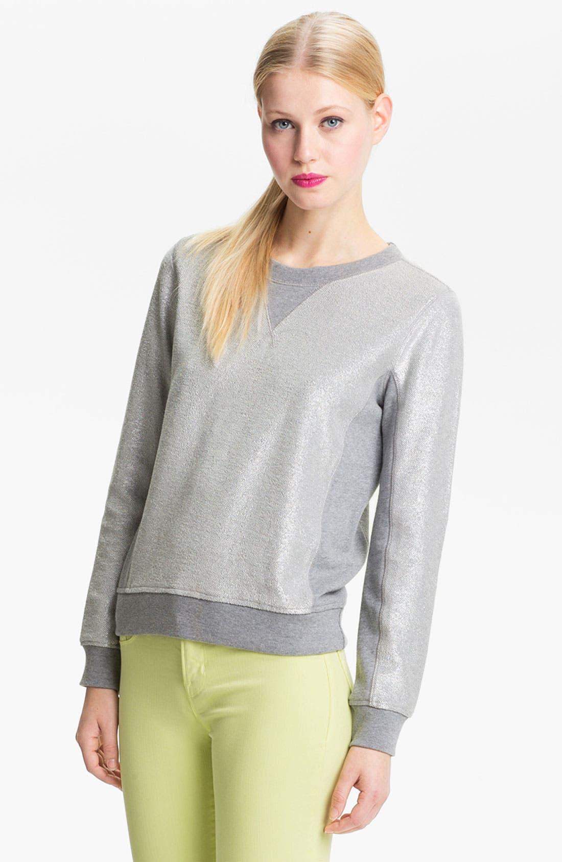 Main Image - MARC BY MARC JACOBS Metallic Coated Sweatshirt