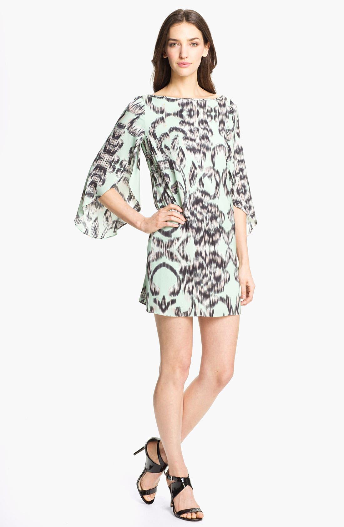 Main Image - Milly Stretch Silk Shift Dress