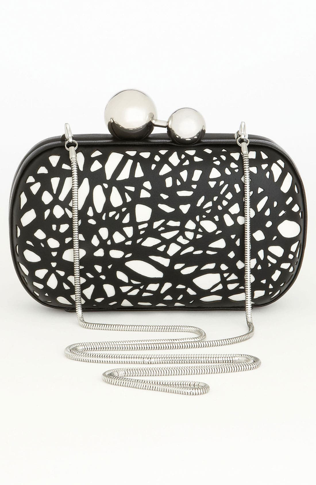 Alternate Image 4  - Diane von Furstenberg 'Sphere' Laser Cut Leather Clutch