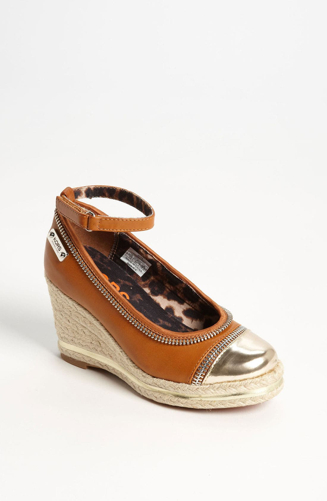 Main Image - KORS Michael Kors 'Aster' Espadrille Wedge (Little Kid & Big Kid)