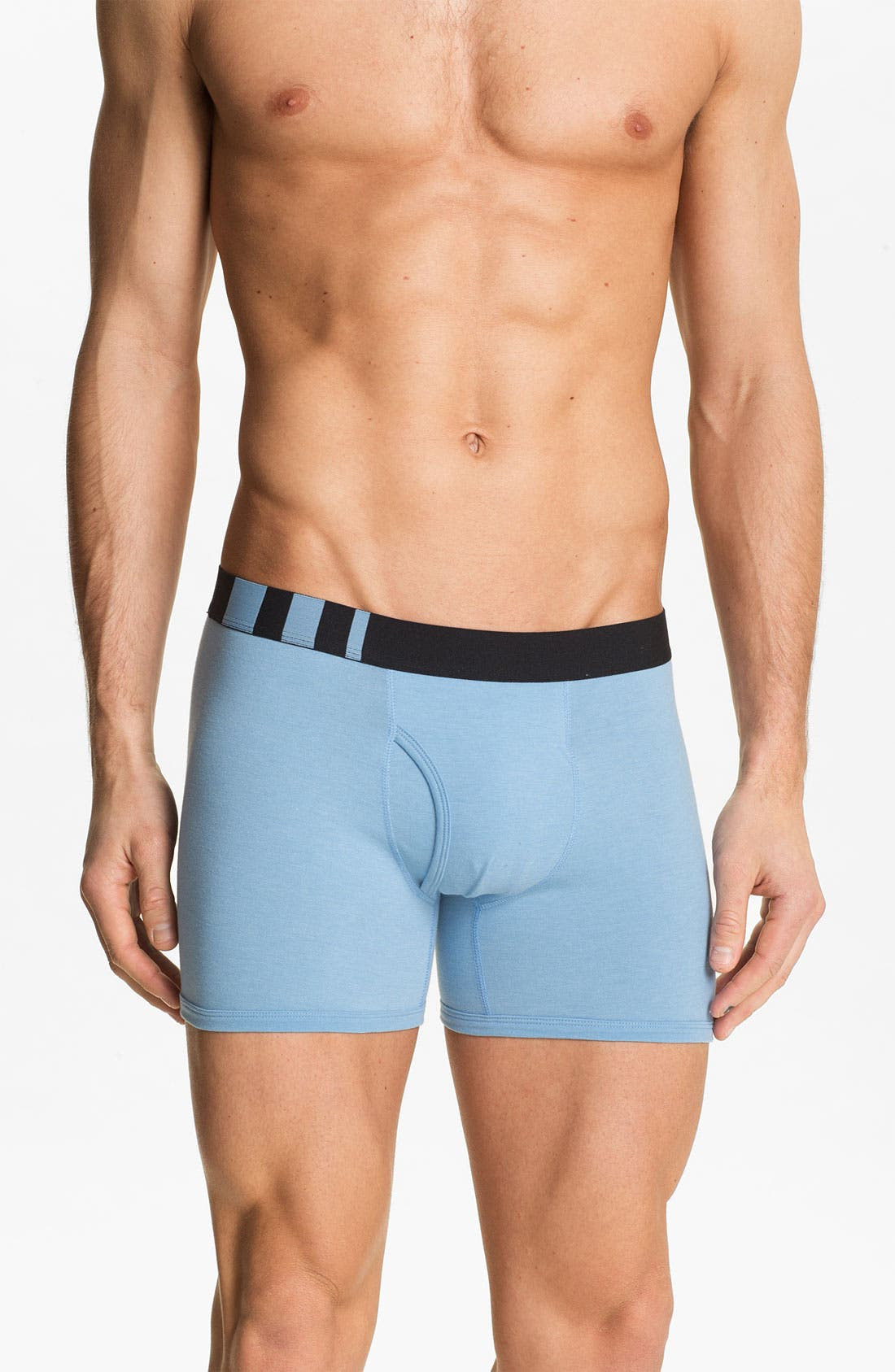 Alternate Image 4  - Basic Underwear Boxer Briefs (3-Pack)
