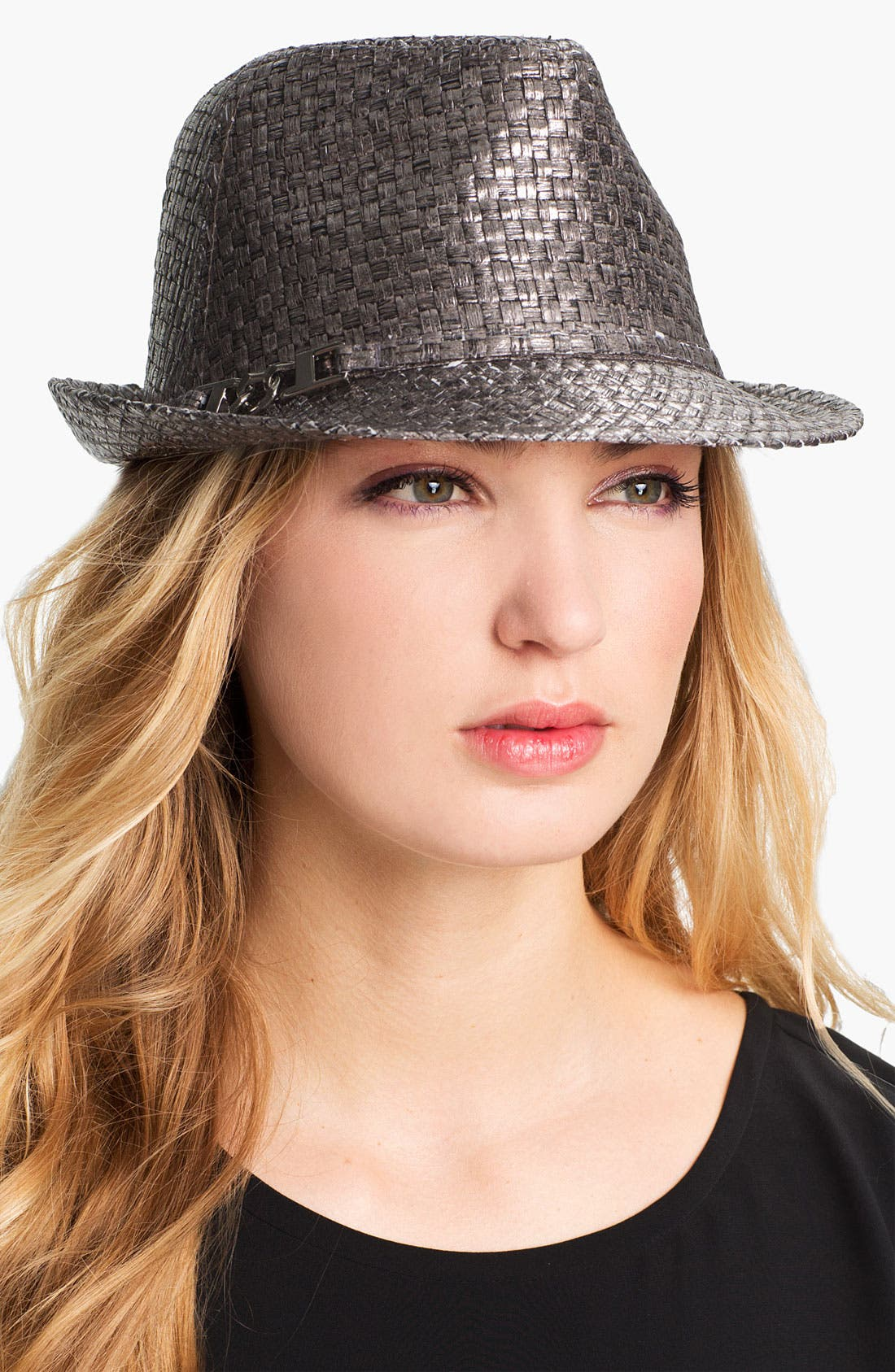 Alternate Image 1 Selected - Metallic Fedora
