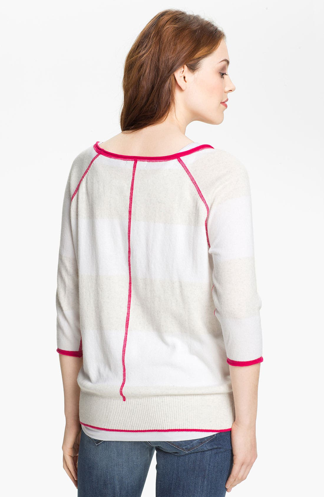 Alternate Image 2  - Press Contrast Trim Sweater