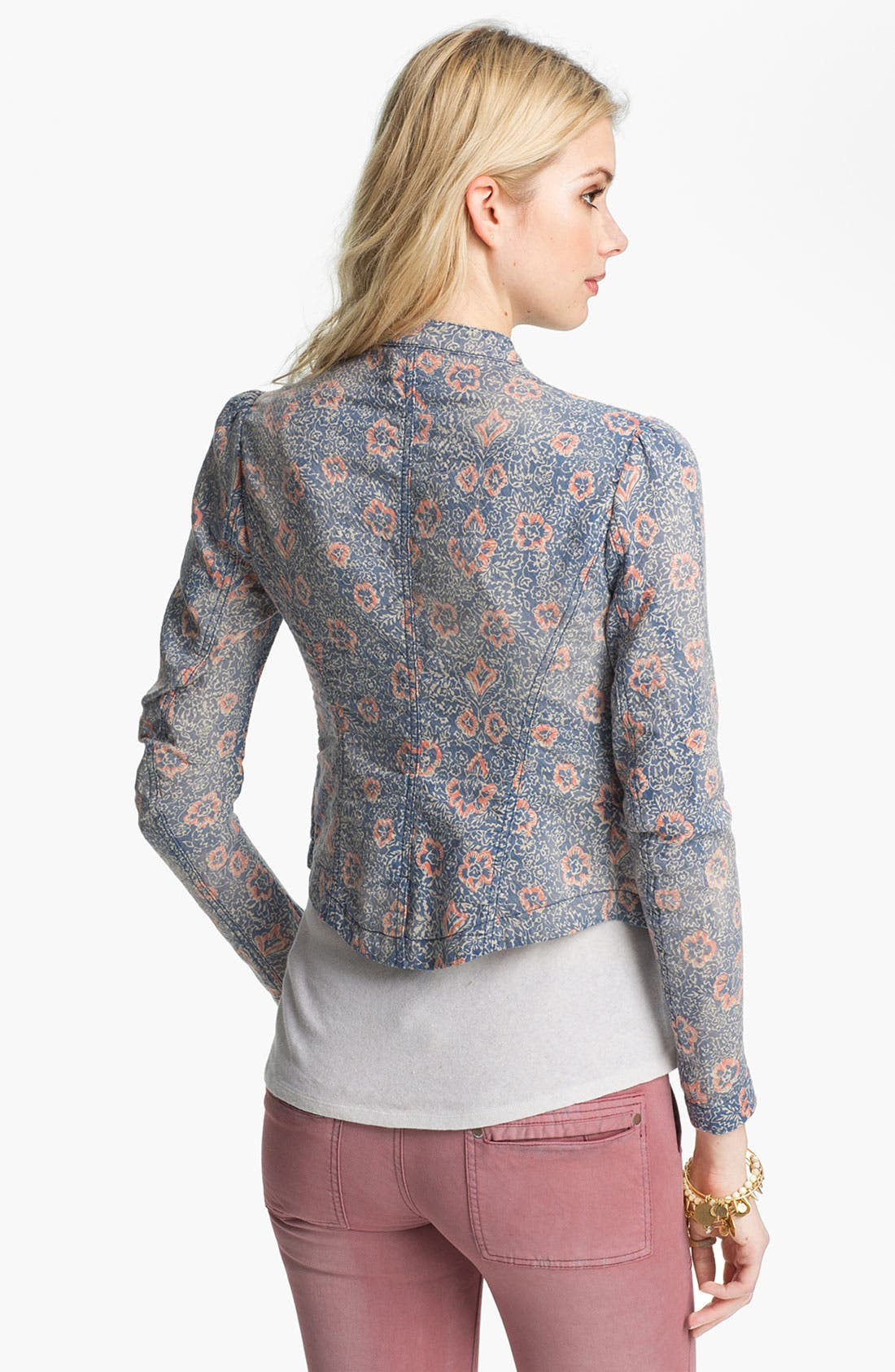 Alternate Image 2  - Free People Floral Print Blazer