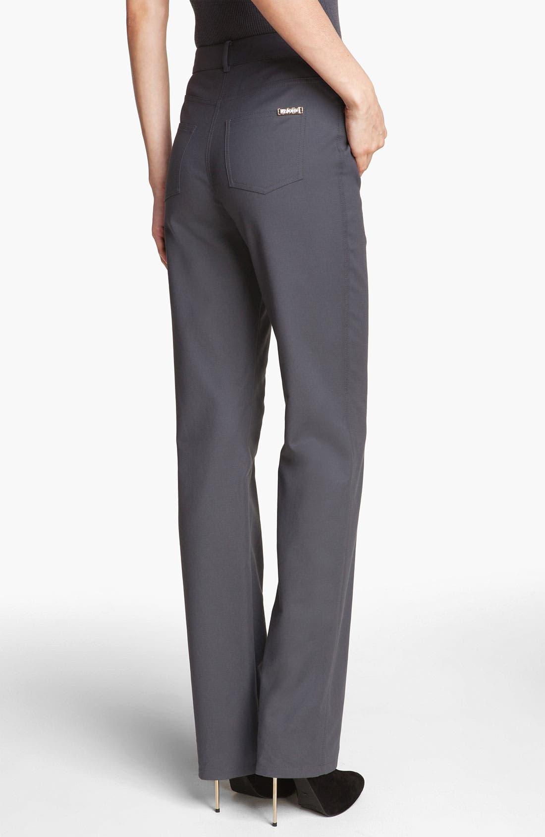 Alternate Image 4  - St. John Yellow Label 'Marie' Double Weave Stretch Cotton Pants