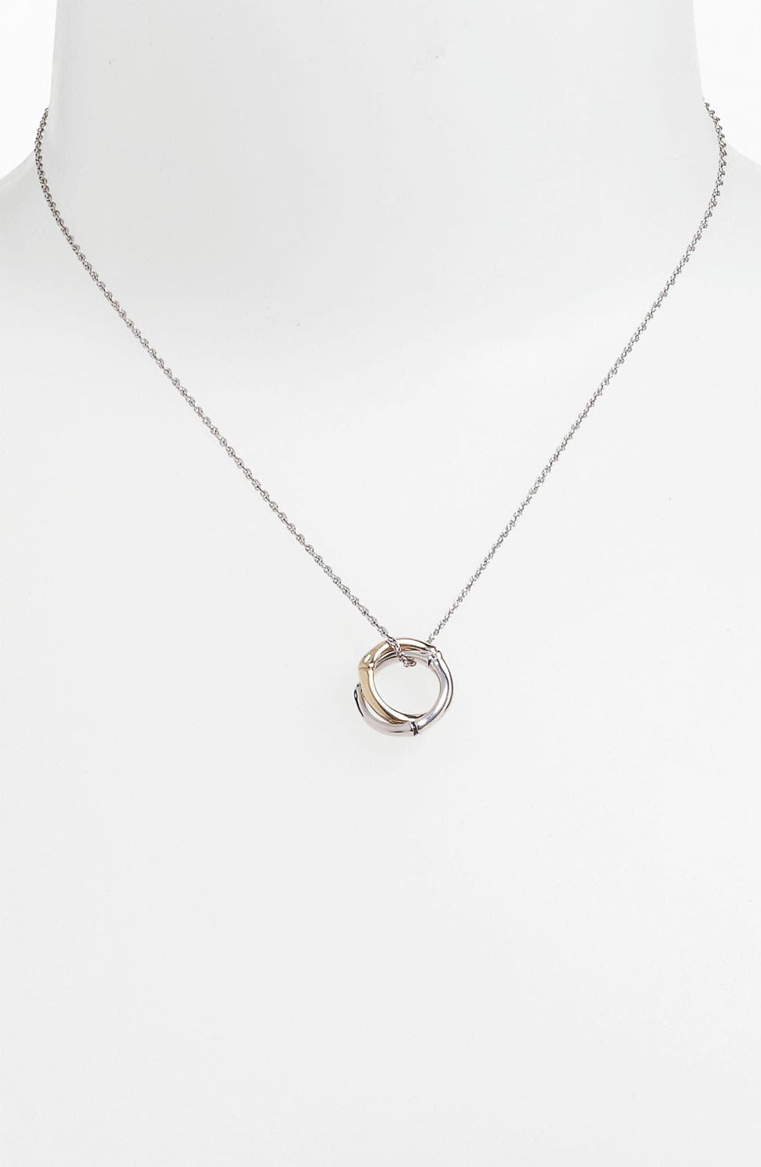 Alternate Image 1 Selected - John Hardy 'Bamboo' Interlocking Pendant Necklace