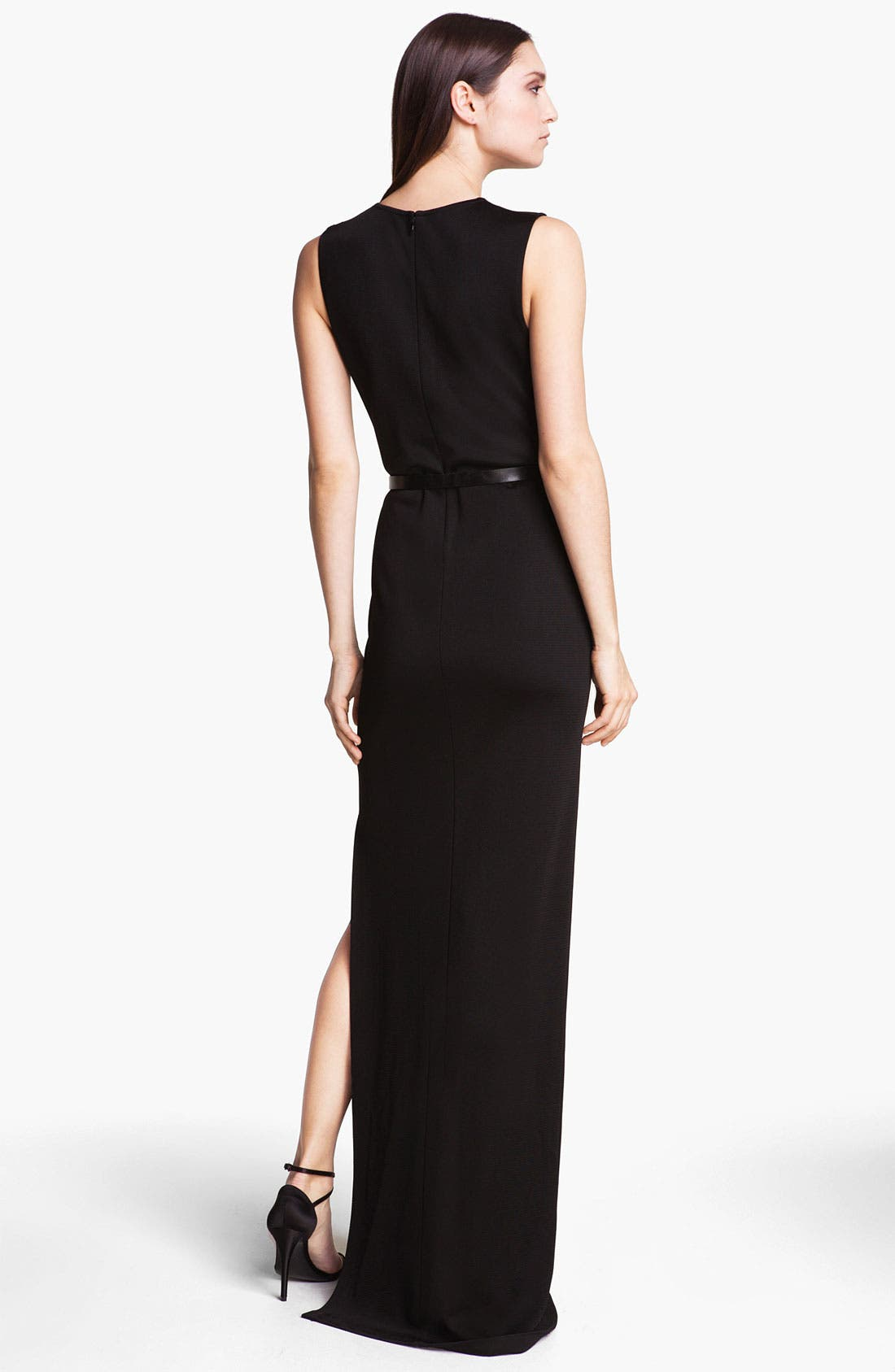 Alternate Image 2  - St. John Collection Embellished Milano Knit Gown