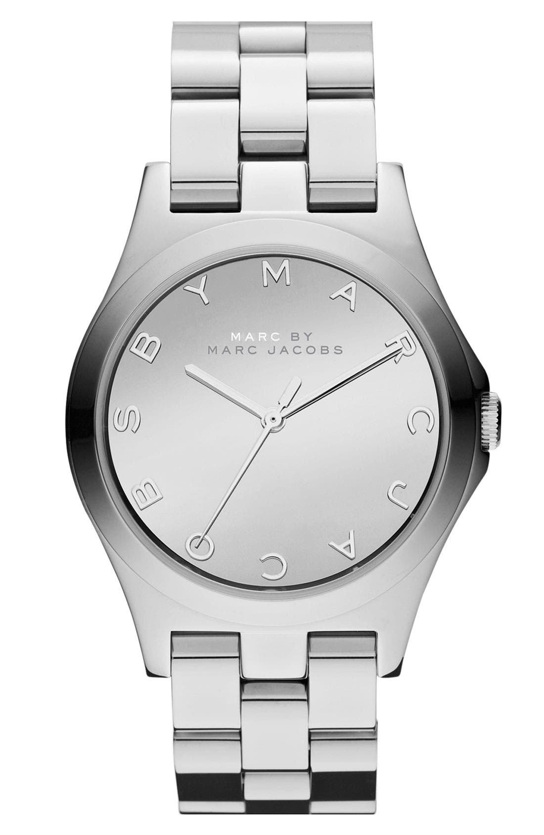 Alternate Image 1 Selected - MARC JACOBS 'Henry Glossy' Bracelet Watch, 36mm