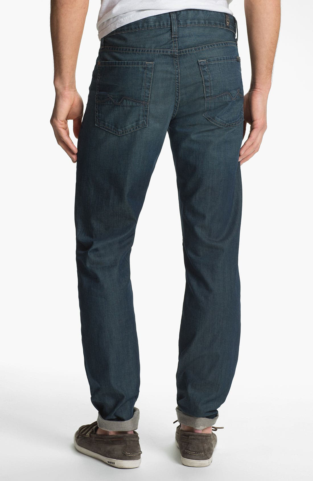 Alternate Image 1 Selected - 7 For All Mankind® 'Slimmy' Slim Straight Leg Jeans (Arroyo Bay)