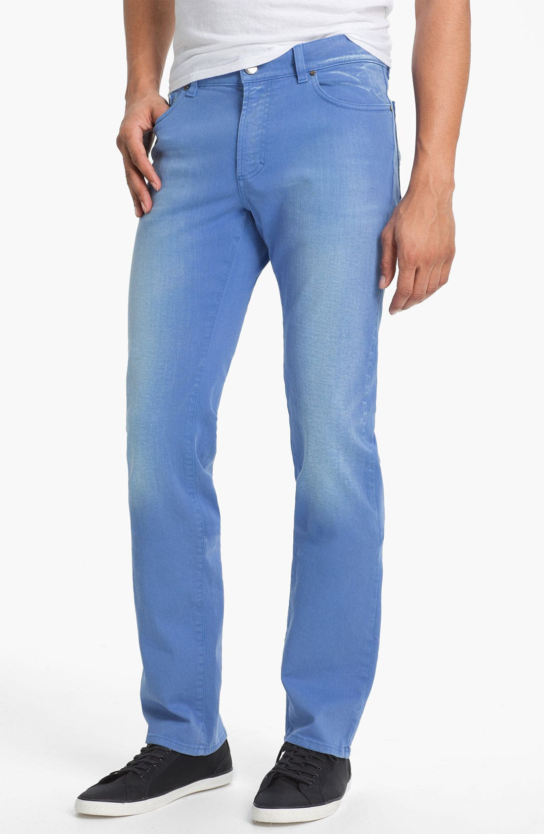 Alternate Image 1 Selected - Versace Five Pocket Twill Pants